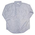 【30%OFF!】DEEP BLUE(ディープブルー) オックスシャンブレーボーイフレンドワークシャツ [73902]