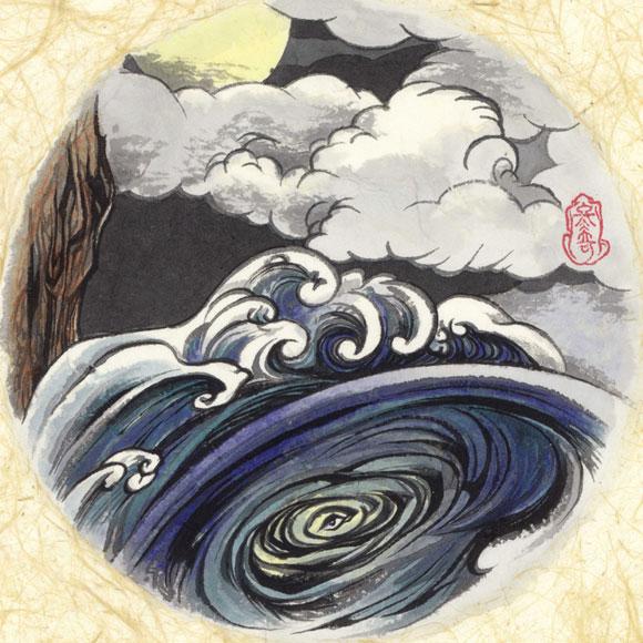 絵師 冬奇 絵画作品 連作『メールストロムの旋渦』 No.1 —メールストロムの旋渦—[FU-PIC01]