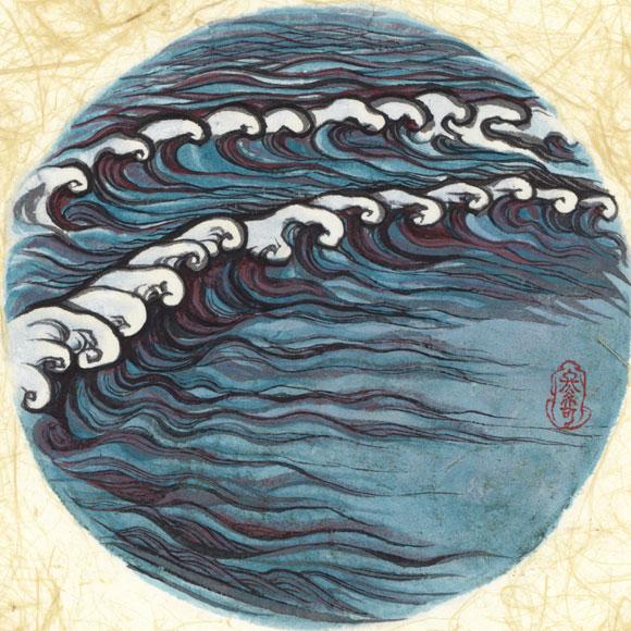 絵師 冬奇 絵画作品 連作『メールストロムの旋渦』 No.3 —予兆—[FU-PIC03]