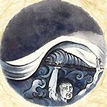 絵師 冬奇 絵画作品 連作『メールストロムの旋渦』 No.6 —飽食波—