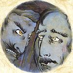 絵師 冬奇 絵画作品 連作『メールストロムの旋渦』 No.8 —豹変—