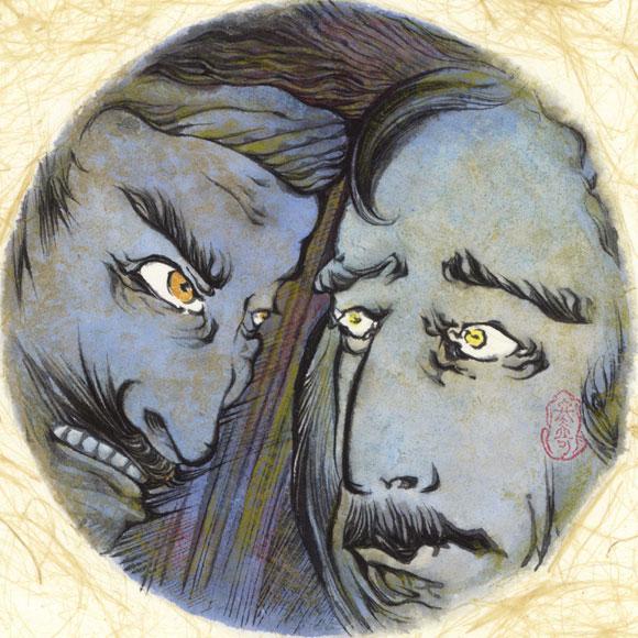 絵師 冬奇 絵画作品 連作『メールストロムの旋渦』 No.8 —豹変—[FU-PIC08]