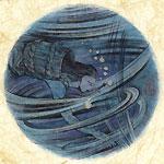 絵師 冬奇 絵画作品 連作『メールストロムの旋渦』 No.9 —決別、未来へ〜!—