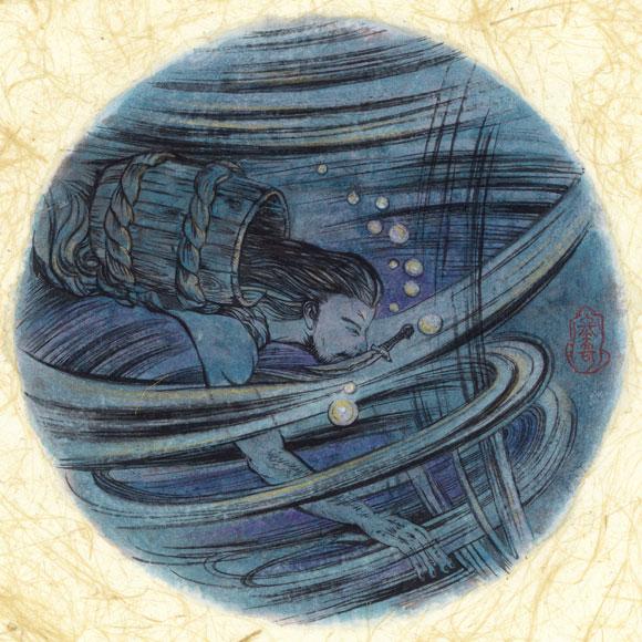 絵師 冬奇 絵画作品 連作『メールストロムの旋渦』 No.9 —決別、未来—[FU-PIC09]