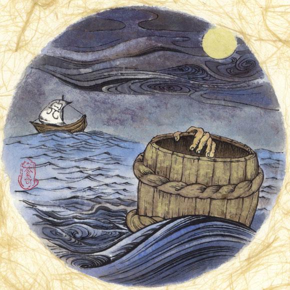 絵師 冬奇 絵画作品 連作『メールストロムの旋渦』 No.10 —出会い—[FU-PIC10]