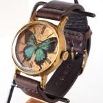 Gothic Laboratory(ゴシックラボラトリー) 手作り腕時計 オオルリアゲハの腕時計 Lサイズ [GL-CW-bb-L]