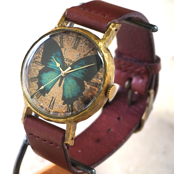 Gothic Laboratory(ゴシックラボラトリー) 手作り腕時計 青い蝶の腕時計 LLサイズ [GL-CW-bb-LL]