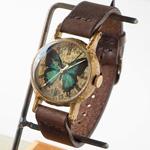 Gothic Laboratory(ゴシックラボラトリー) 手作り腕時計 青い蝶の腕時計 Mサイズ [GL-CW-bb-M]