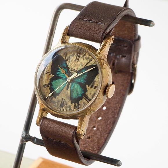 Gothic Laboratory(ゴシックラボラトリー) 手作り腕時計 オオルリアゲハの腕時計 Mサイズ [GL-CW-bb-M]