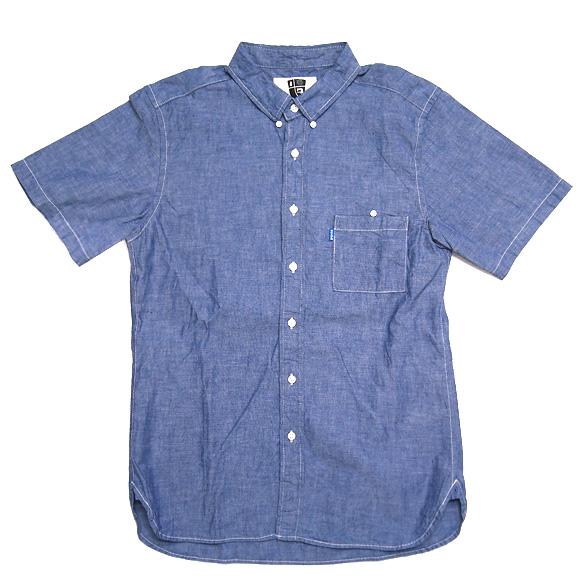 graphzero(グラフゼロ)シショートスリーブループボタンダウンシャツ シャンブレー [GZ-BD-SS-SH2504-S]