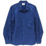 graphzero(グラフゼロ)40sガチャポケワークシャツ 長袖 ドット [GZ-GPID-LSSH2611-DOT]