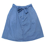 graphzero(グラフゼロ)プラチナオーガニックコットン ロングスカート 本藍染め [GZ-La-SK01-AI]