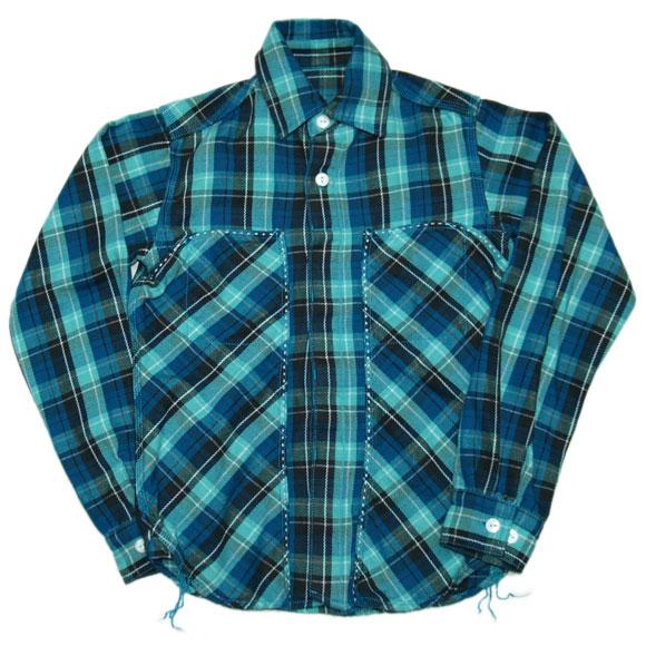 graphzero(グラフゼロ) 糸顔料 ヘビーネルシャツ ブルー [GZ-NEL-BL]