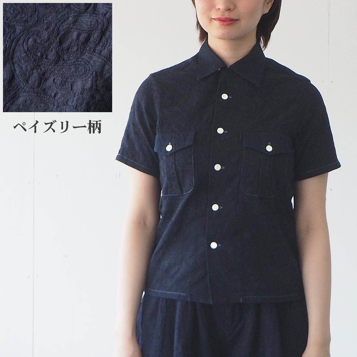 graphzero(グラフゼロ) オープンカラーシャツ 半袖 ペイズリー レディース [GZ-OPC-3004-PAI-LADIES]