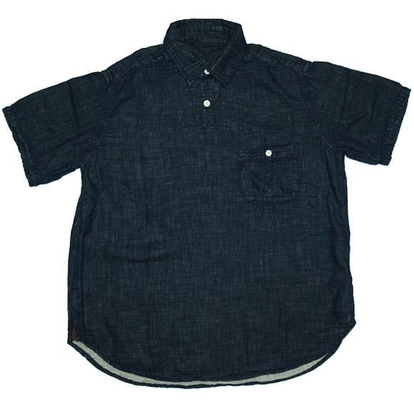 graphzero(グラフゼロ) ロープ染色 プルオーバーシャツ インディゴ[GZ-PO-IND01]