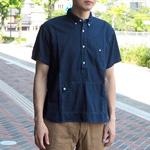 graphzero(グラフゼロ)トラベラーズプルオーバーボタンダウンシャツ 半袖 インディゴ メンズ・レディース [GZ-PO-SS2806-IND]