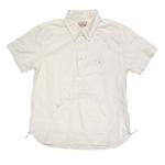graphzero(グラフゼロ)トラベラーズプルオーバーボタンダウンシャツ 半袖 生成 メンズ・レディース [GZ-PO-SSSH2605-WH]