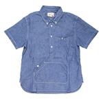 graphzero(グラフゼロ)トラベラーズプルオーバーボタンダウンシャツ 半袖 シャンブレー メンズ・レディース [GZ-PO-SSSH2605-CB]