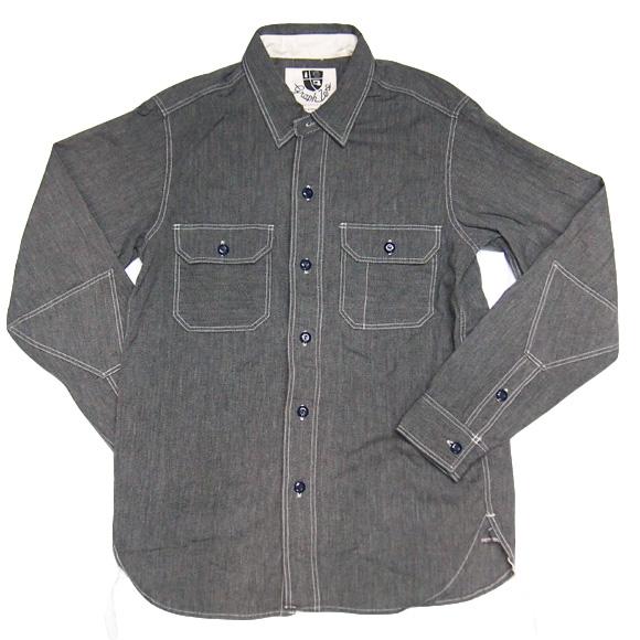 graphzero(グラフゼロ)杢セルビッチ エルボーパッチシャツ [GZ-ST2410]