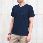 graphzero(グラフゼロ) インディゴVネックTシャツ メンズ・レディース [GZ-T13V-ID]