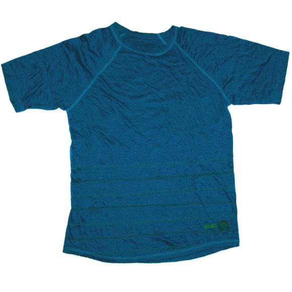 graphzero(グラフゼロ) リネンチェーンステッチTシャツ ターコイズブルー[GZ-TS-ST-TB01]