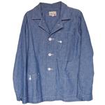 graphzero(グラフゼロ)テーラードシャツジャケット インディゴシャンブレー メンズ・レディース [GZ-TSHJKT-2605-ID]