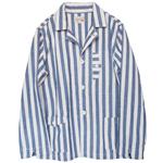 graphzero(グラフゼロ)テーラードシャツジャケット インディゴストライプ メンズ [GZ-TSHJKT-2605-ST]