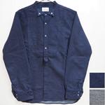 【2色】graphzero(グラフゼロ) ジンバブエコットン インディゴウイングカラーシャツ 長袖 メンズ・レディース [GZ-WCLSSH-2612]