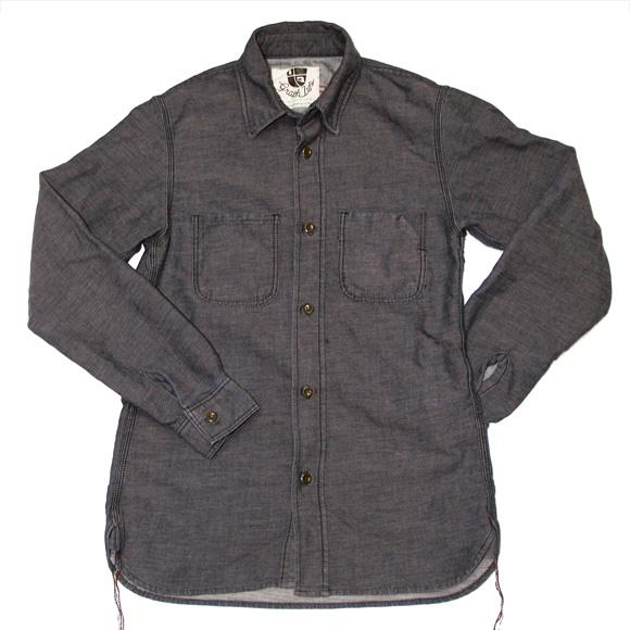 【2色から選べます!】graphzero(グラフゼロ) 30番単糸ロープ染色ワークシャツ [GZ-WS-30IND]