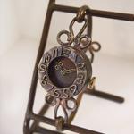 ipsilon(イプシロン) 時計作家 ヤマダヨウコ 手作り腕時計 fiore(フィオーレ) 黒仕上げ レディース [fiore-N]
