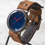 ipsilon(イプシロン) 時計作家 ヤマダヨウコ 手作り腕時計 seta Jumbo(セータ ジャンボ) ネイビー [seta-J-NAV]