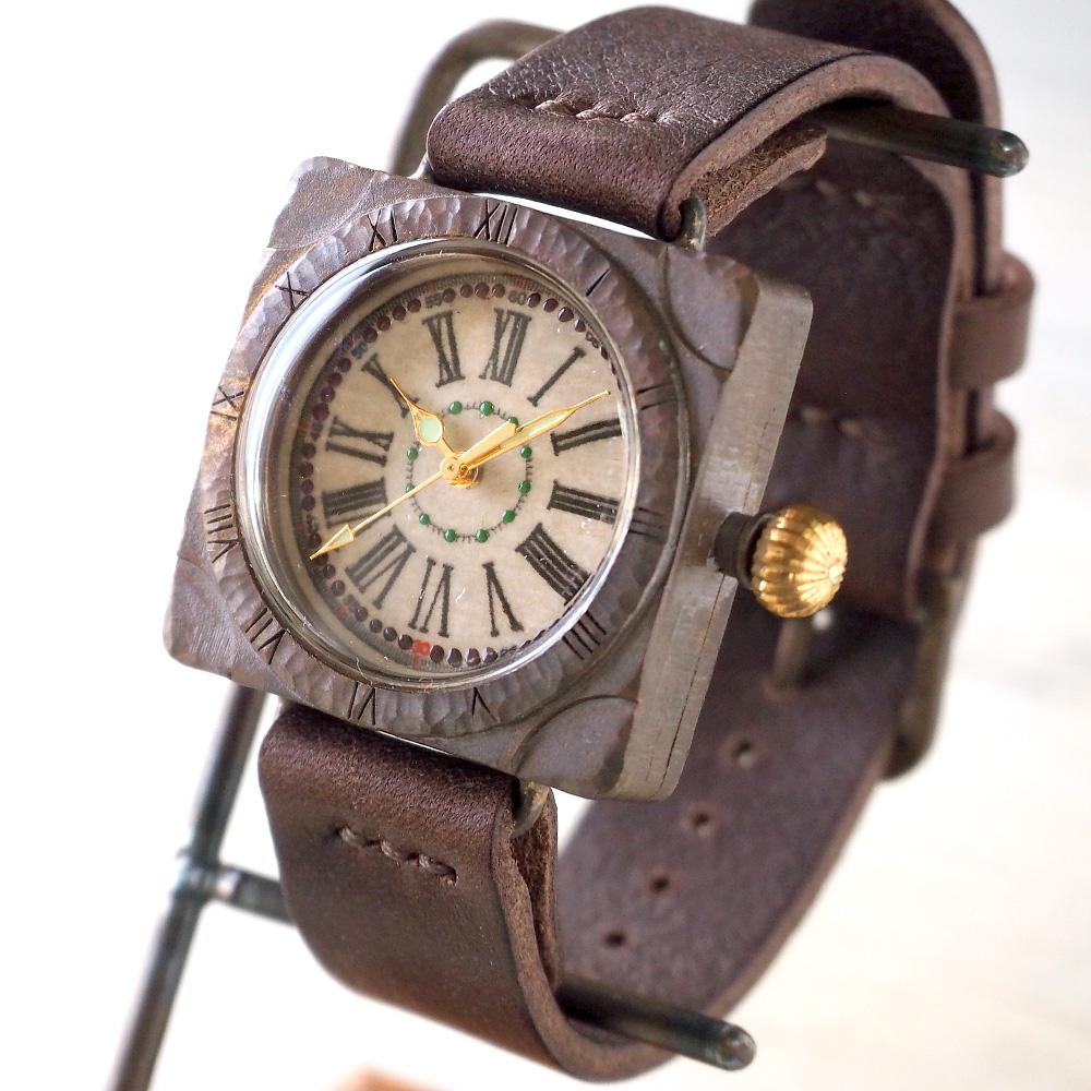 "JOIE INFINIE DESIGN(ジョイ アンフィニィ デザイン) 手作り腕時計 ""TRUNK -トランク-""[D-4895]"