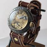"""JOIE INFINIE DESIGN(ジョイ アンフィニィ デザイン) 手作り腕時計 手巻き式 """"SUN&MOON -サン アンド ムーン-""""[D-4896]"""