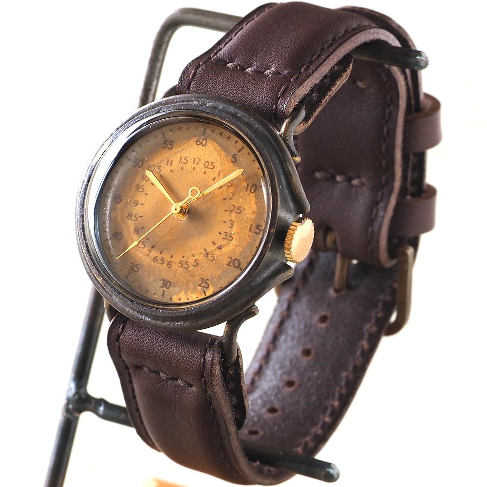 """JOIE INFINIE DESIGN(ジョイ アンフィニィ デザイン)手作り腕時計 """"WHITE -ホワイト-"""" イタリアンレザーベルト [D-4898]"""