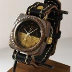 "JOIE INFINIE DESIGN(ジョイ アンフィニィ デザイン) 手作り腕時計 ""HOLMES -ホームズ-""[D-4899]"