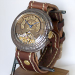 """JOIE INFINIE DESIGN(ジョイ アンフィニィ デザイン)手作り腕時計 手巻き式""""STEAM MACHINE -スチームマシーン-""""[D-5929]"""
