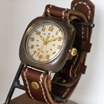 "JOIE INFINIE DESIGN(ジョイ アンフィニィ デザイン)手作り腕時計""CUSHION -クッション-""[D-5931]"