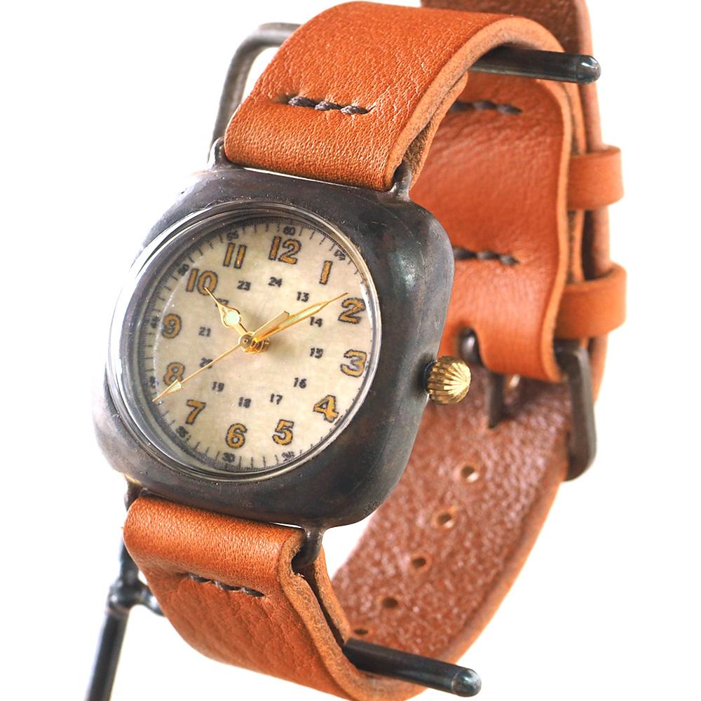 """JOIE INFINIE DESIGN(ジョイ アンフィニィ デザイン)手作り腕時計""""CUSHION -クッション-"""" イタリアンレザーベルト [D-5931-NEW]"""