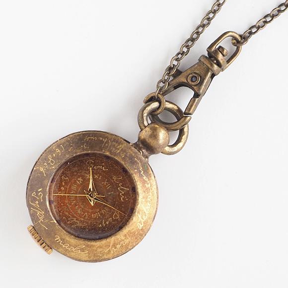 "JOIE INFINIE DESIGN(ジョイ アンフィニィ デザイン)手作り懐中時計""KIKI""[D-5934]"
