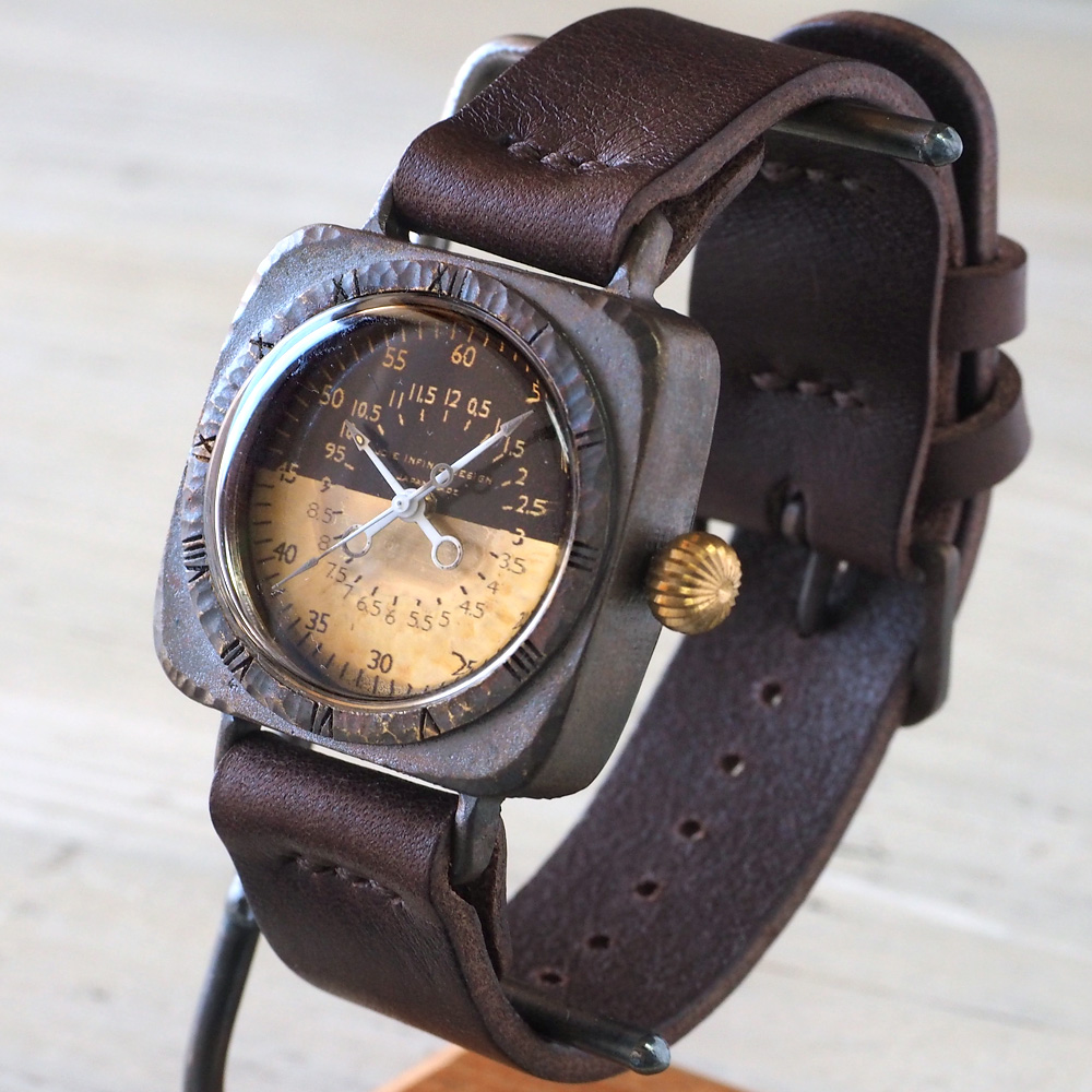 "JOIE INFINIE DESIGN(ジョイ アンフィニィ デザイン)手作り腕時計""HOLMES -ホームズ-""[D-7700]"