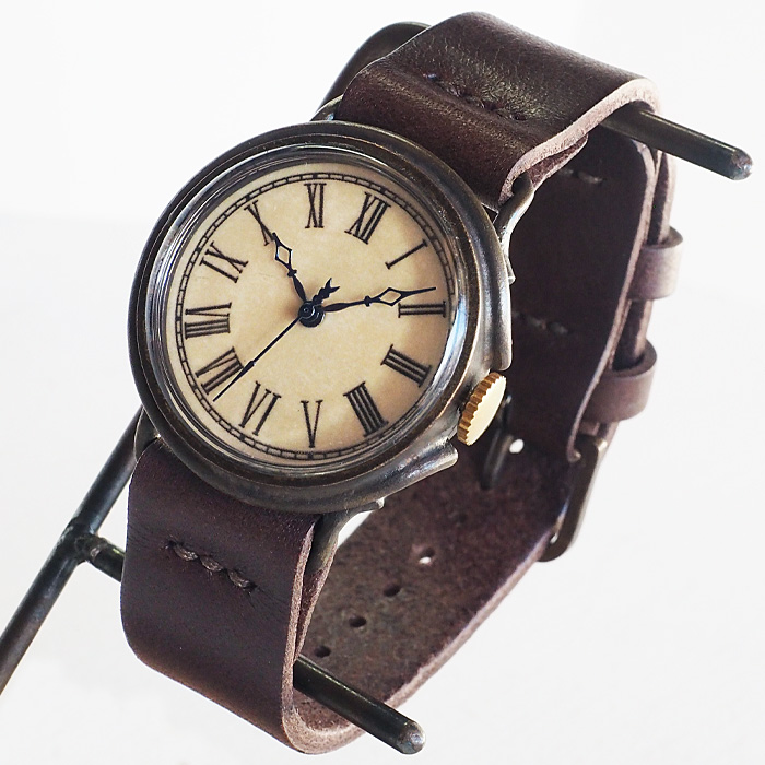 "JOIE INFINIE DESIGN(ジョイ アンフィニィ デザイン)手作り腕時計""NEUTRAL -ニュートラル-""イタリアンレザーベルト [D-8000]"