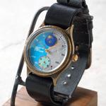"""JOIE INFINIE DESIGN(ジョイ アンフィニィ デザイン)手作り腕時計""""Dark Blue -ダークブルー-"""" イタリアンレザーベルト [D-8700]"""