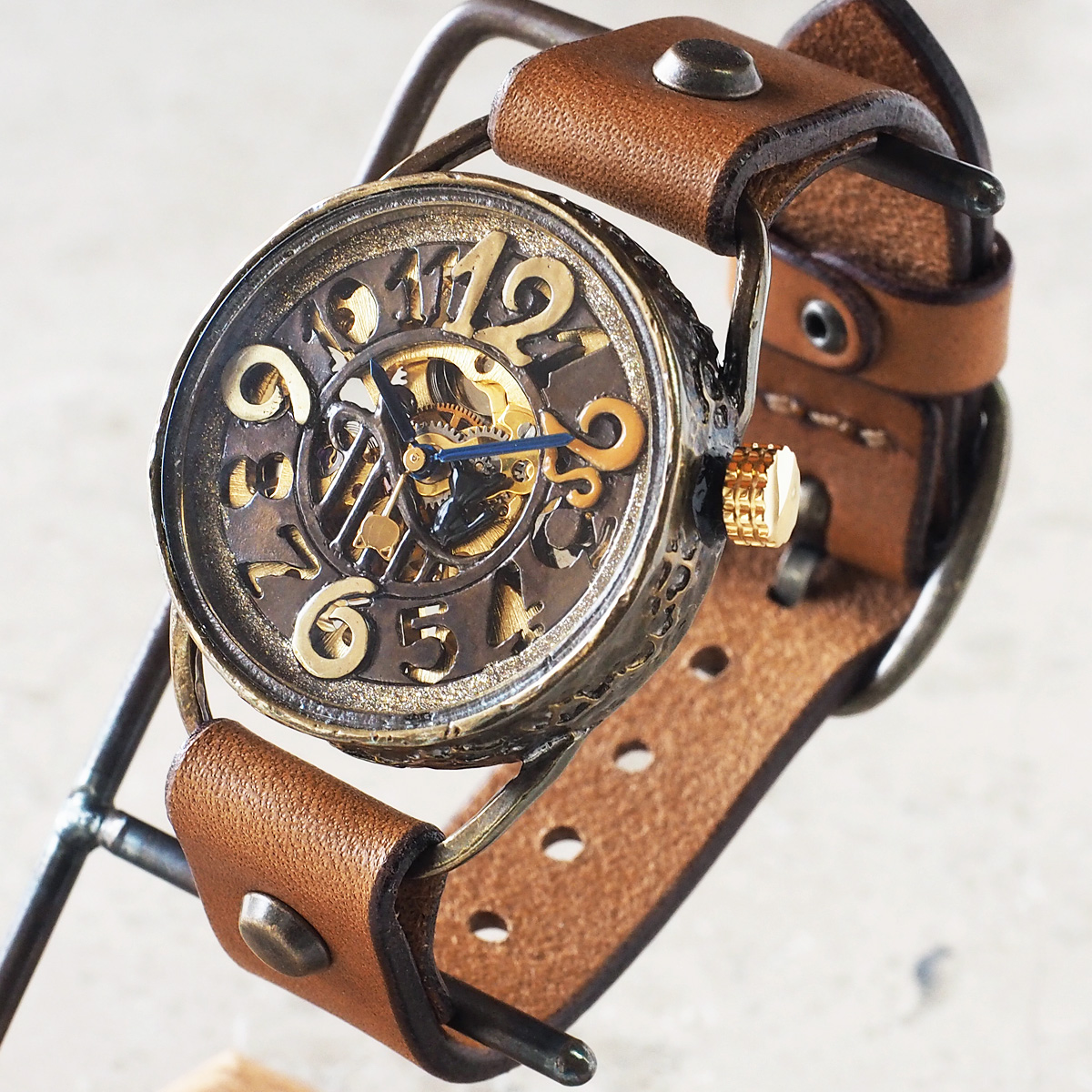 KINO(キノ) 手作り腕時計 手巻き機械式 裏スケルトン メカニャン [MEKANYAN]