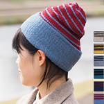 【6色から選べます】kobooriza−工房織座− コットンキャップ ボーダー [K-WC-CC03]