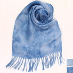 【2色から選べます】工房織座 リネン100% ストール インド藍染め [ORI-LS-AI]
