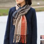 【2色から選べます】工房織座 ウール×綿 二重織り スヌード メンズ・レディース [ORI-SN]