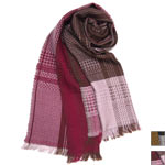【2色から選べます】工房織座 ウール100% 織り柄マフラー メンズ・レディース [ORI-W100]