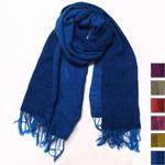 【6色から選べます】工房織座 かさね色織り ウール混ショール [ORI-WS]