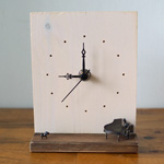 ブロンズ造形作家・コイズミタダシ コビトの置き時計 「21時にさよならを。」 [KO-WC-01]