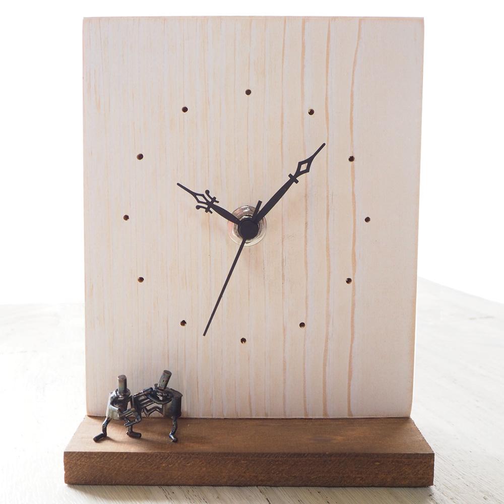 ブロンズ造形作家・コイズミタダシ コビトの置き時計 「椅子とりゲーム」 [KO-WC-04]